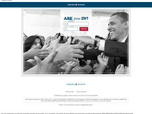 Obama landing page optimization - example 1