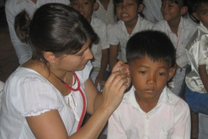 DIapositives d'images de l'association enfant sourds du cambodge