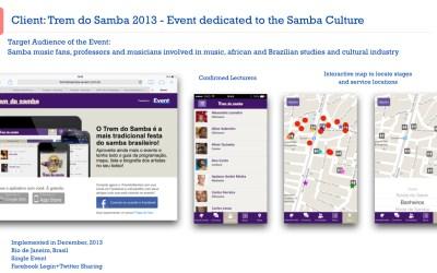 Trem do Samba – O samba fica mais interativo com o iEvent