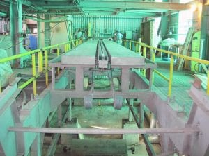 View of filter belt after installation in factory