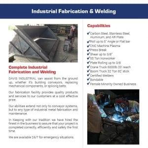 Industrial Fabrication Flier