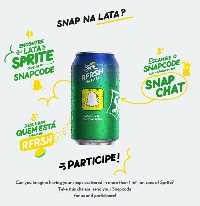 Sprite Snapchat campaign