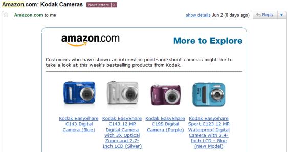 Amazon upsell