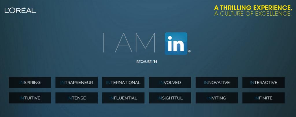 L'Oreal LinkedIn campaign
