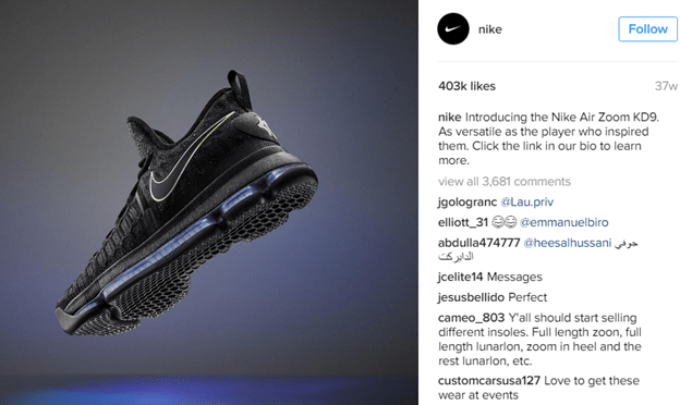 How Nike uses Instagram