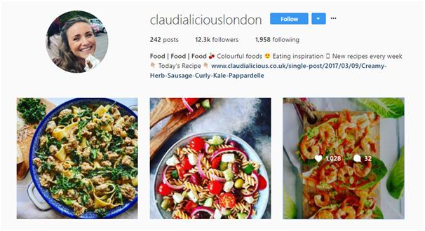 Instagram food influencer