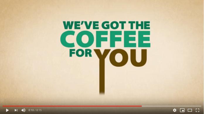 Starbucks kinetic typography example