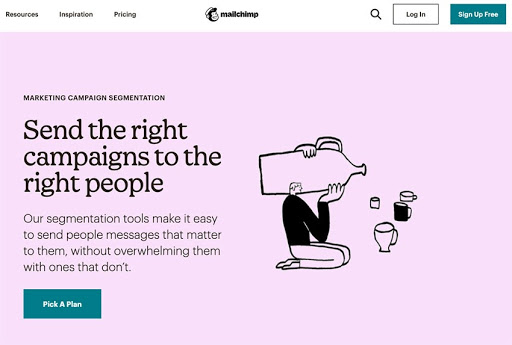 MailChimp website example