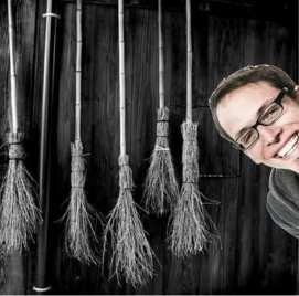 Dude In Broom Closet