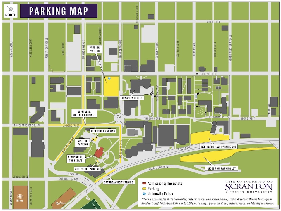 scranton university campus map Campus Map And Driving Parking Directions Convo 2018 scranton university campus map