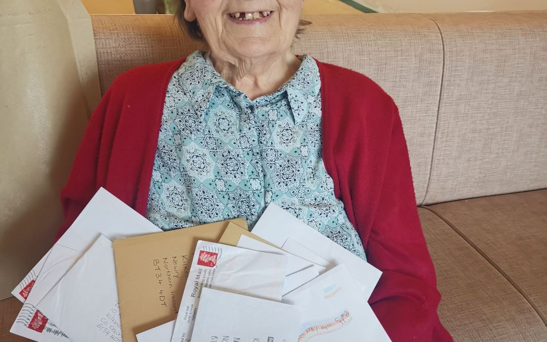 Residents of Brooklands Kilkeel were in awe with the response of The Pen Pal Project. (September, 2020)