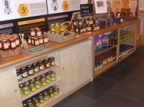 Welsh honey for sale at the Visitor Centre
