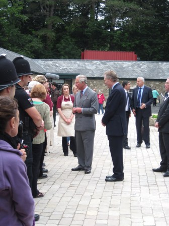 The Prince of Wales at Bodnant Welsh Food, July 2012