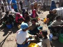 Selling honey in Ethiopia