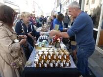 Selling honey!