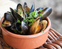 conwy mussels cooked on the beach