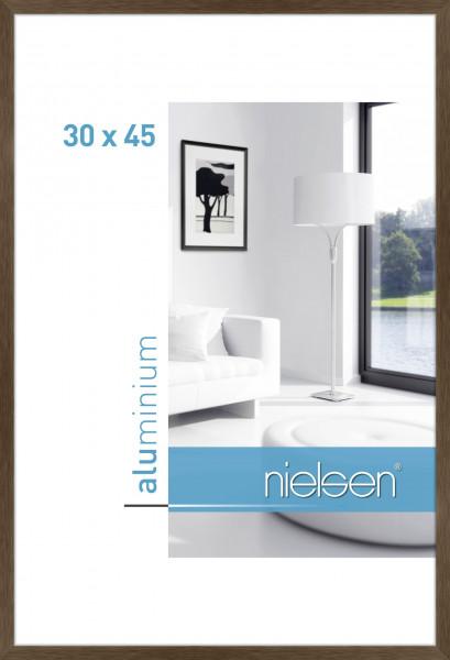 Nielsen C2 Alu Bilderrahmen 30x45 Cm Struktur Walnuss