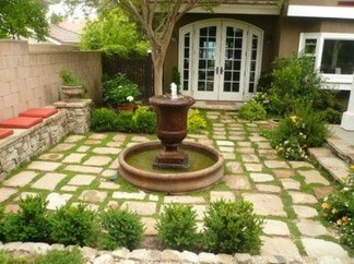Gorgeous Front Yard Courtyard Landscaping Ideas 39