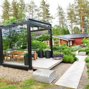 Amazing Scandinavian Backyard Landscaping Ideas 19