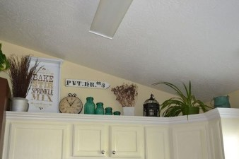 Awesome Decorating Above Kitchen Cabinets 04