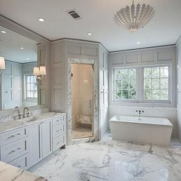 Creative Master Bathroom Shower Remodel Ideas 13