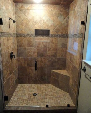 Creative Master Bathroom Shower Remodel Ideas 44