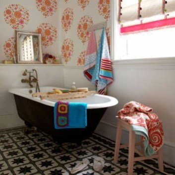 Lovely Eclectic Bathroom Ideas 16