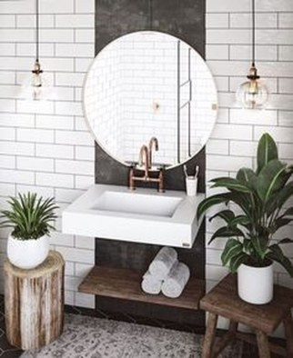 Stunning Vintage Bathroom Decor Ideas Trends 2018 44