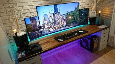 Unique Gaming Desk Computer Setup Ideas 35