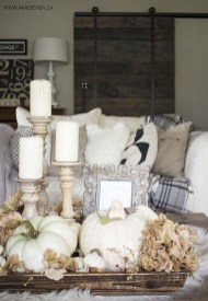 Lovely White Fall Decor Ideas For Interior Design 01