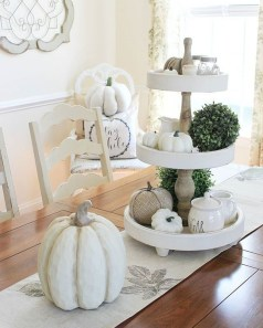 Lovely White Fall Decor Ideas For Interior Design 34