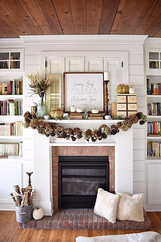 Lovely White Fall Decor Ideas For Interior Design 48