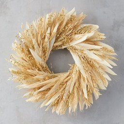 Stylish Fall Wreaths Ideas With Corn And Corn Husk For Door 20