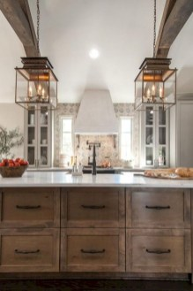 Unique Farmhouse Lighting Kitchen Ideas 35