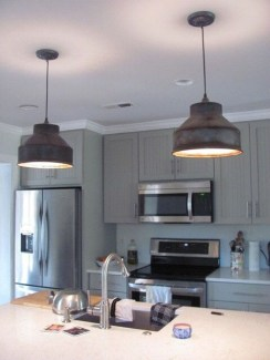 Unique Farmhouse Lighting Kitchen Ideas 44