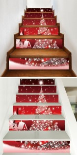 Beautiful Christmas Stairs Decoration Ideas 04