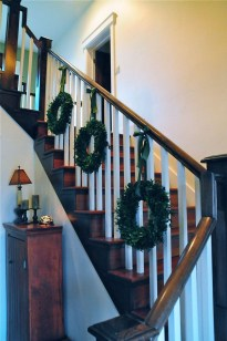Beautiful Christmas Stairs Decoration Ideas 14
