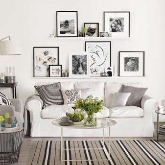Incredible White Walls Living Room Design Ideas 24