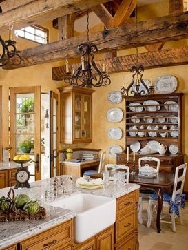 Delightful French Country Kitchen Design Ideas 37