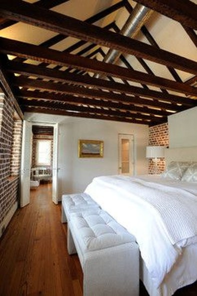 Wonderful Ezposed Brick Walls Bedroom Design Ideas 19