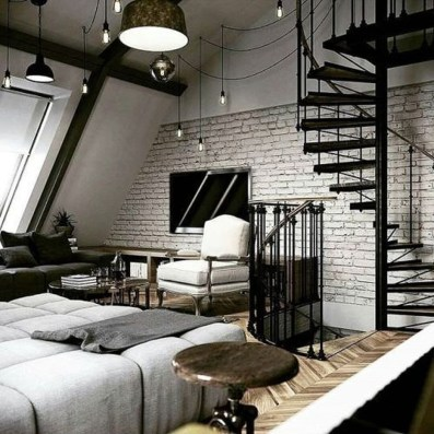 Wonderful Ezposed Brick Walls Bedroom Design Ideas 20