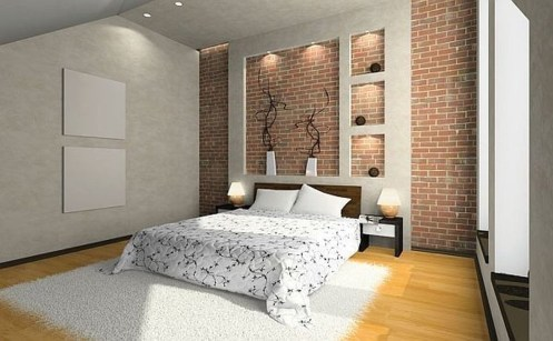 Wonderful Ezposed Brick Walls Bedroom Design Ideas 34