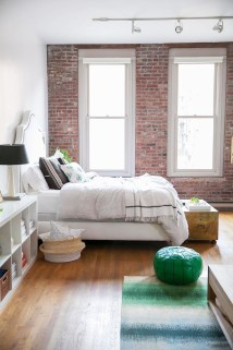 Wonderful Ezposed Brick Walls Bedroom Design Ideas 37