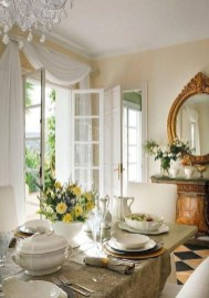 Amazing French Country Dining Room Table Decor Ideas 01