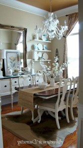 Amazing French Country Dining Room Table Decor Ideas 31
