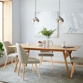 Modern Mid Century Dining Room Table Decor Ideas 13