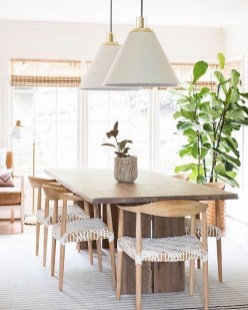 Modern Mid Century Dining Room Table Decor Ideas 19