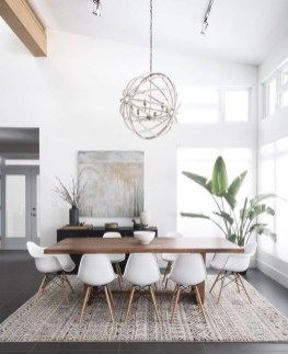 Modern Mid Century Dining Room Table Decor Ideas 25