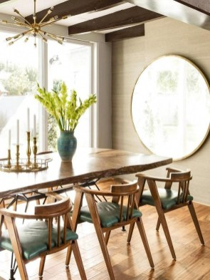 Modern Mid Century Dining Room Table Decor Ideas 35