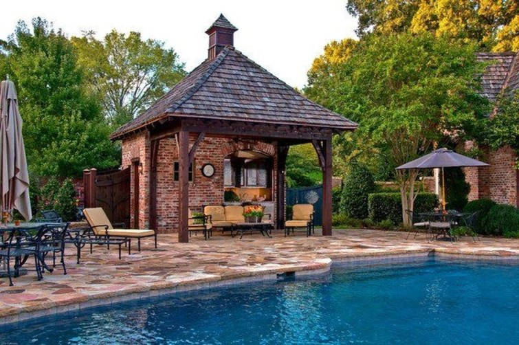 Nice Pool House Decorating Ideas On A Budget 53